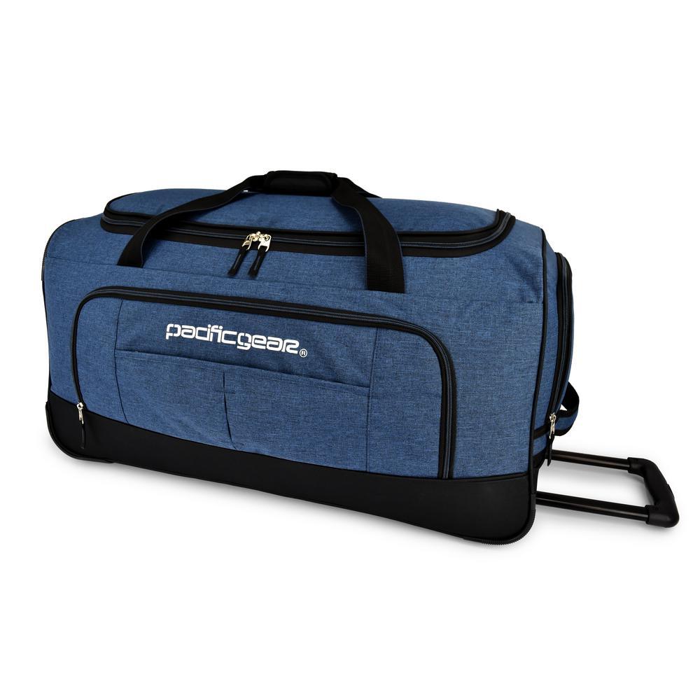 Keystone 30 in. Rolling Navy Duffel Bag