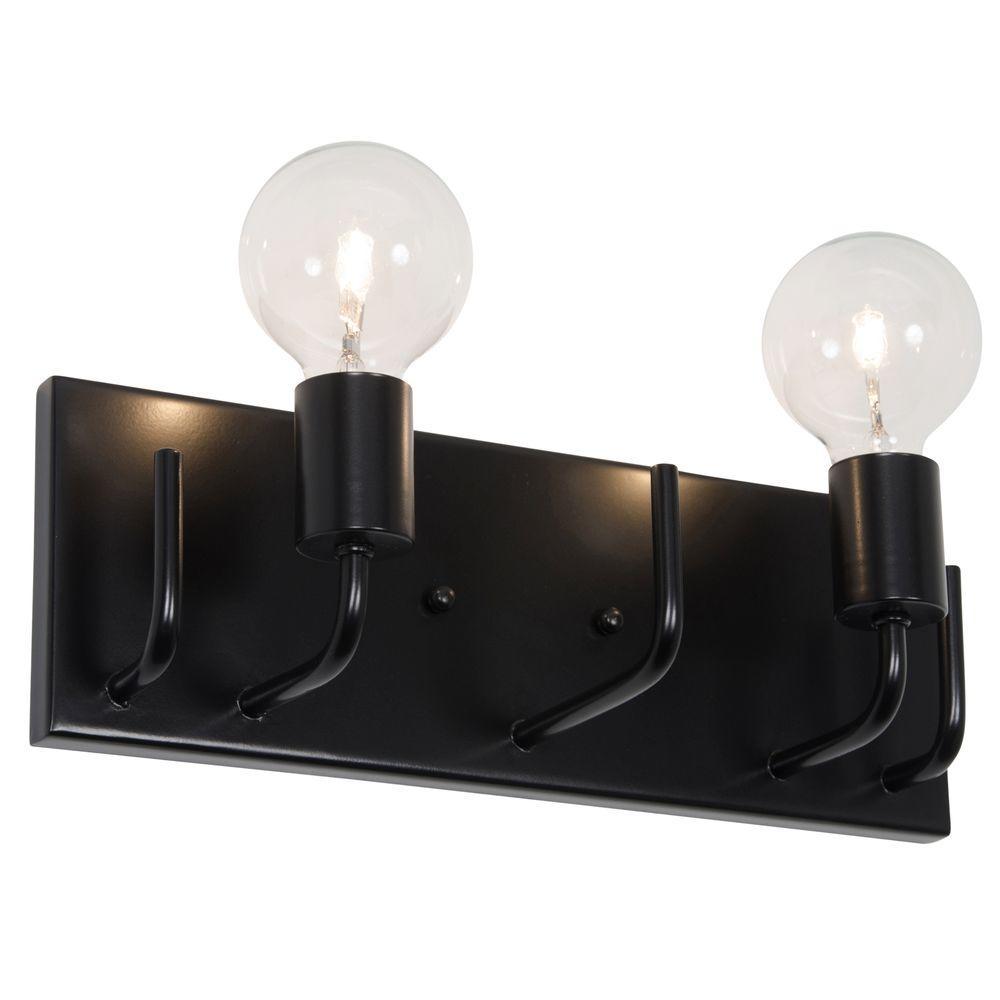 Socket-To-Me 2-Light Black Vanity Light