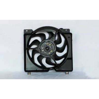 2000-2002 Ford Focus L4 2.0L Dual Radiator /& Condenser Fan Assembly Fits