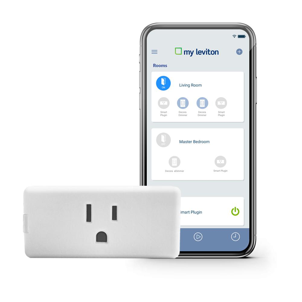Leviton Leviton Decora Smart Wi-Fi Mini Plug-In Single Outlet, No Hub Required, Works with Alexa, Google Assistant and Nest, White