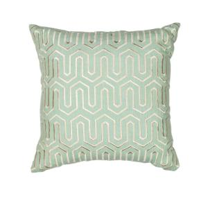 Kas Rugs Tower Style Seafoam Decorative Pillow by Kas Rugs