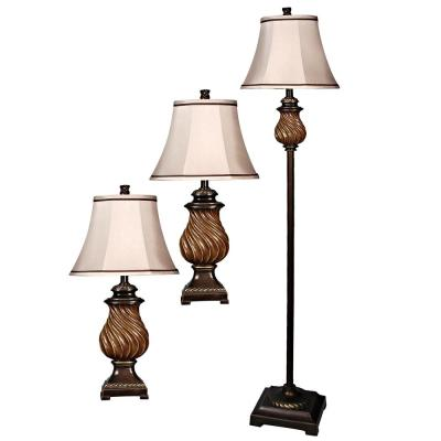 See Features 61 in. Toffee Lamp Set (3-Piece)