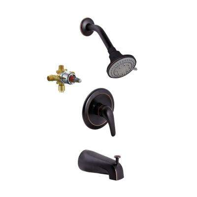 Middleton Single-Handle 5-Spray Tub and Shower Faucet in Oil Rubbed Bronze (Valve Included)