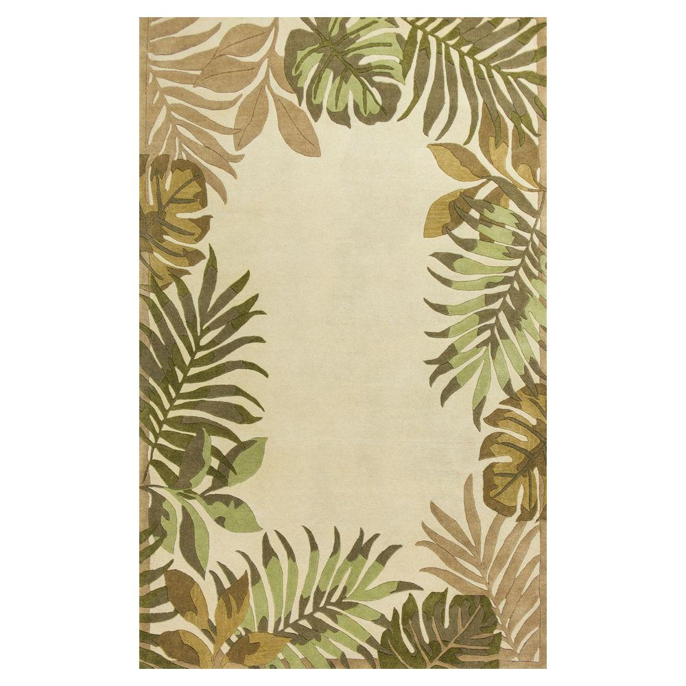 Paradise Border Ivory 8 ft. x 10 ft. 6 in. Area