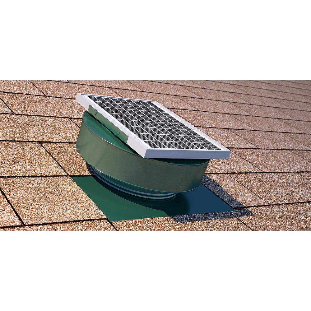 Active Ventilation Exhaust Attic Fan 365 Cfm 5 Watt Solar