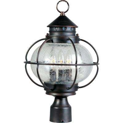 Portsmouth 3-Light Oil-Rubbed Bronze Outdoor Pole/Post Mount