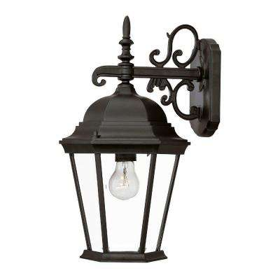 Richmond Collection 1-Light Matte Black Outdoor Wall-Mount Light Fixture