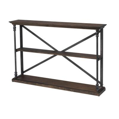 Corbin 8 in. Brown Standard Rectangle Wood Console Table