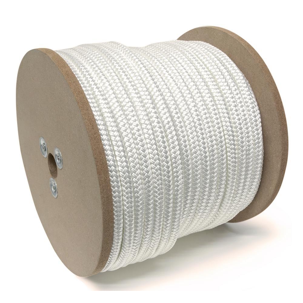 1/2 in. x 300 ft. Nylon Marine-Grade Double Twin Braid Rope, White