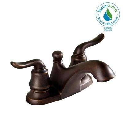 Princeton 4 in. Centerset 2-Handle Low-Arc Bathroom Faucet in Oil Rubbed Bronze