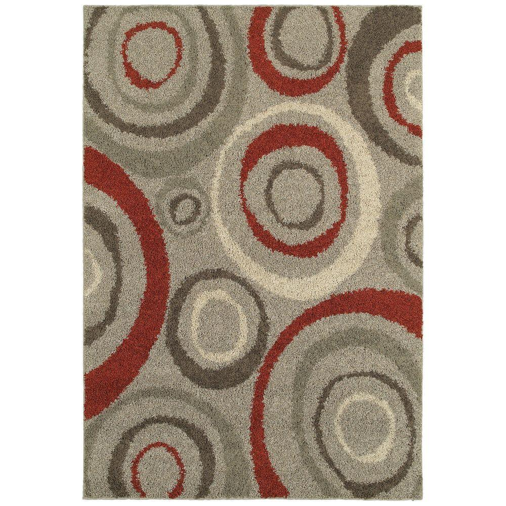 Home Decorators Collection Orbit Gray 4 Ft X 6 Area Rug
