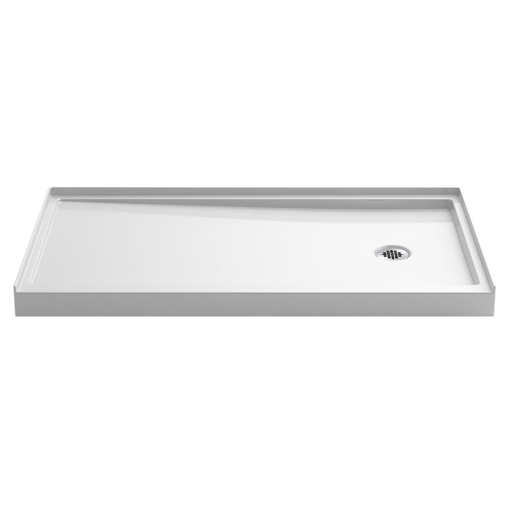 KOHLER Rely 60 in. x 32 in. Single-Threshold Shower Base in White