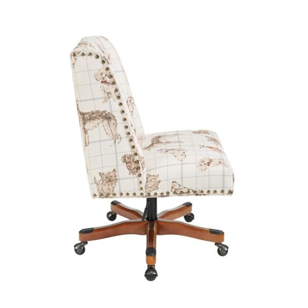 Linon Home Decor Dorchester Tan Dog 20 In 24 In Adjustable Height Office Chair Stone Thd02667 The Home Depot