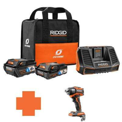 18-Volt OCTANE Battery and Charger Kit w/(1) 3.0 Ah, (1) 6.0 Ah Battery and Charger w/Bonus 6-Mode 1/4 in. Impact Driver