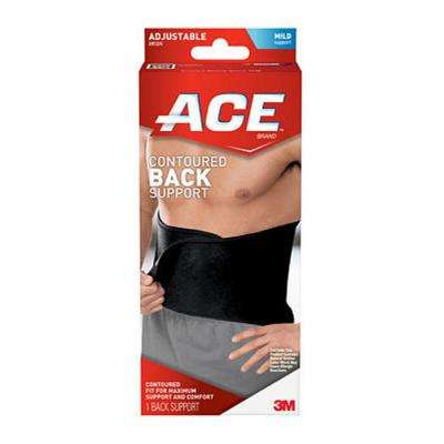 One Size Adjustable Contoured Back Support