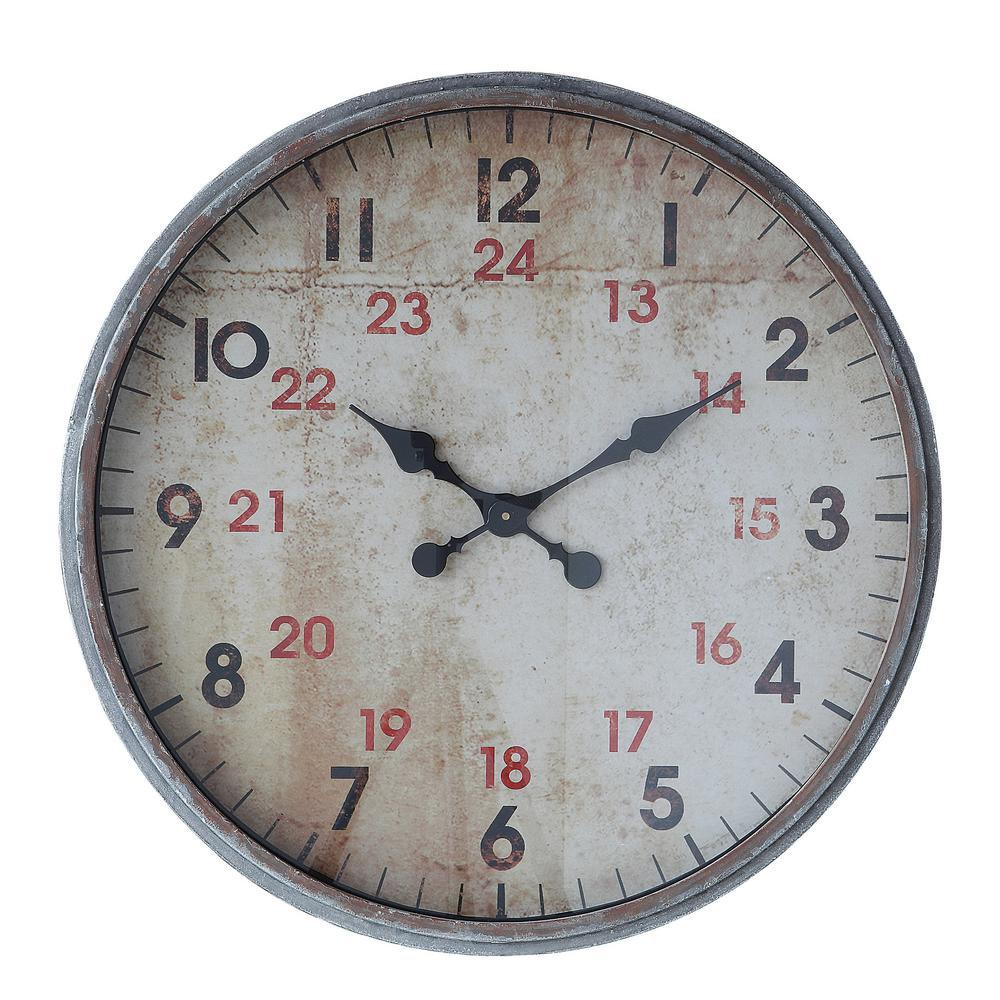 Metallic Gray Decorative Wall Clock