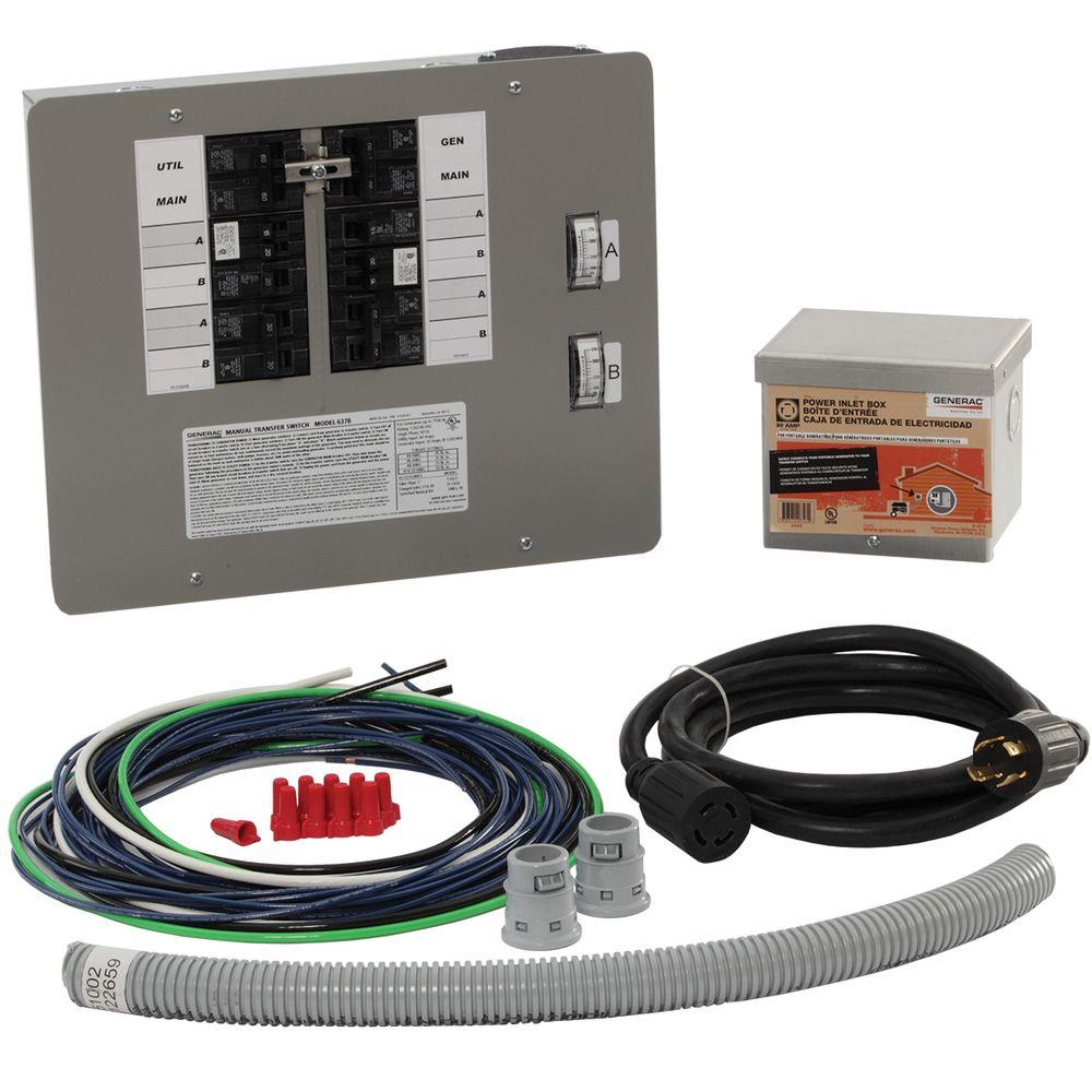 Generac 30-Amp Generator Transfer Switch Kit for 10-16 Circuits for Indoor Applications
