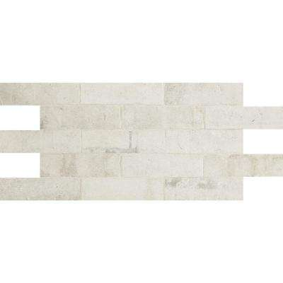 Eastway Brick Rustic White 2 In. X 8 In. Ceramic Floor And Wall Tile