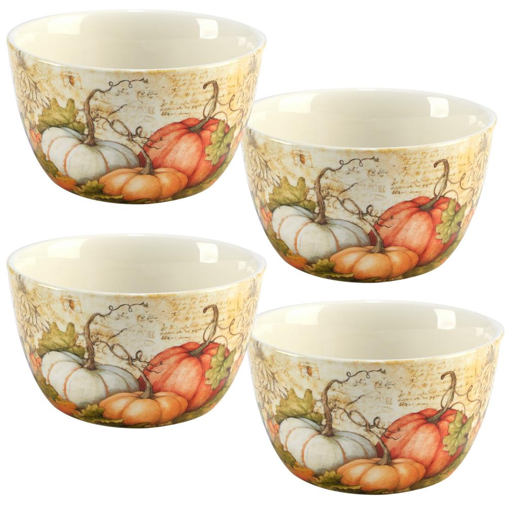Autumn Fields by Susan Winget 5.25 in. Ice Cream Bowl (Set