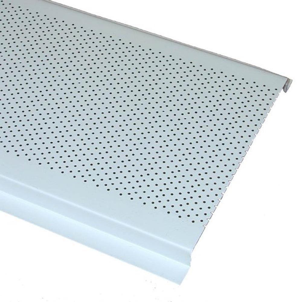 Center Undereave Vent in White. 16 in  x 4 in  Aluminum Louvered Soffit Vent in White 84226   The