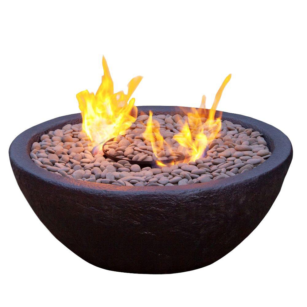 Real Flame Hampton 29 in. Fire Bowl in Black-DISCONTINUED