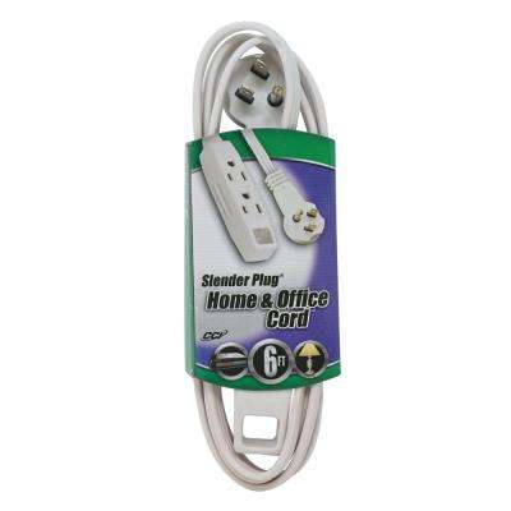 6 ft. 16/3 SPT-2 Multi-Outlet (3) Indoor Light-Duty Flat Plug Extension Cord