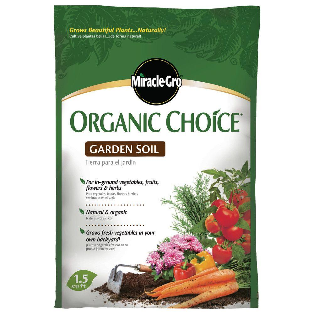 miracle gro 15 cu ft organic choice garden soil - Miracle Gro Garden Soil