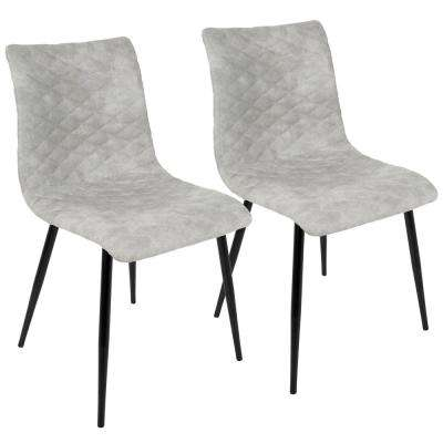 Eastwood Industrial Black and Grey Dining Chair (Set of 2)