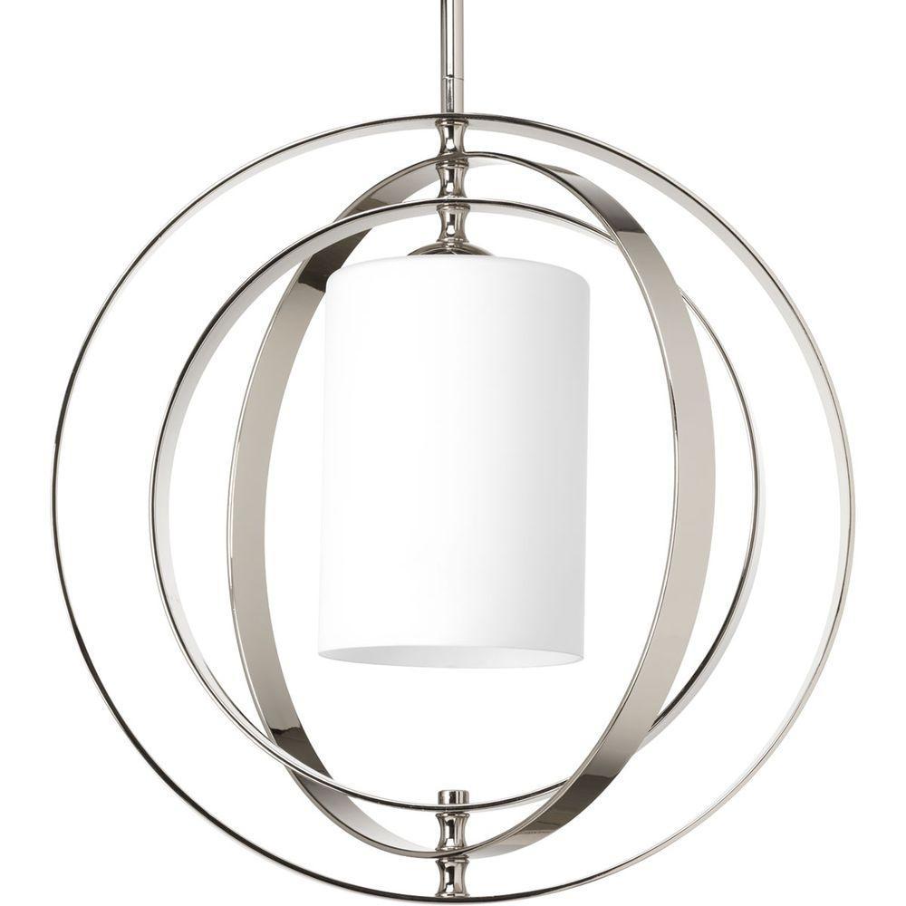 Equinox 1 Light Polished Nickel Pendant