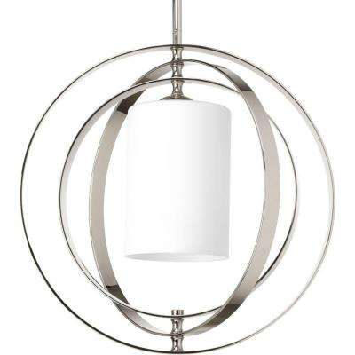 Equinox Collection 1-Light Polished Nickel Orb Pendant