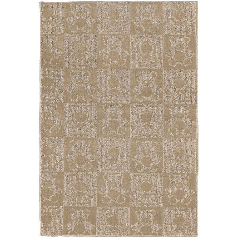 Garland Rug Bears Tan 7 ft. 6 in. x 9 ft. 6 in. Area Rug-DISCONTINUED
