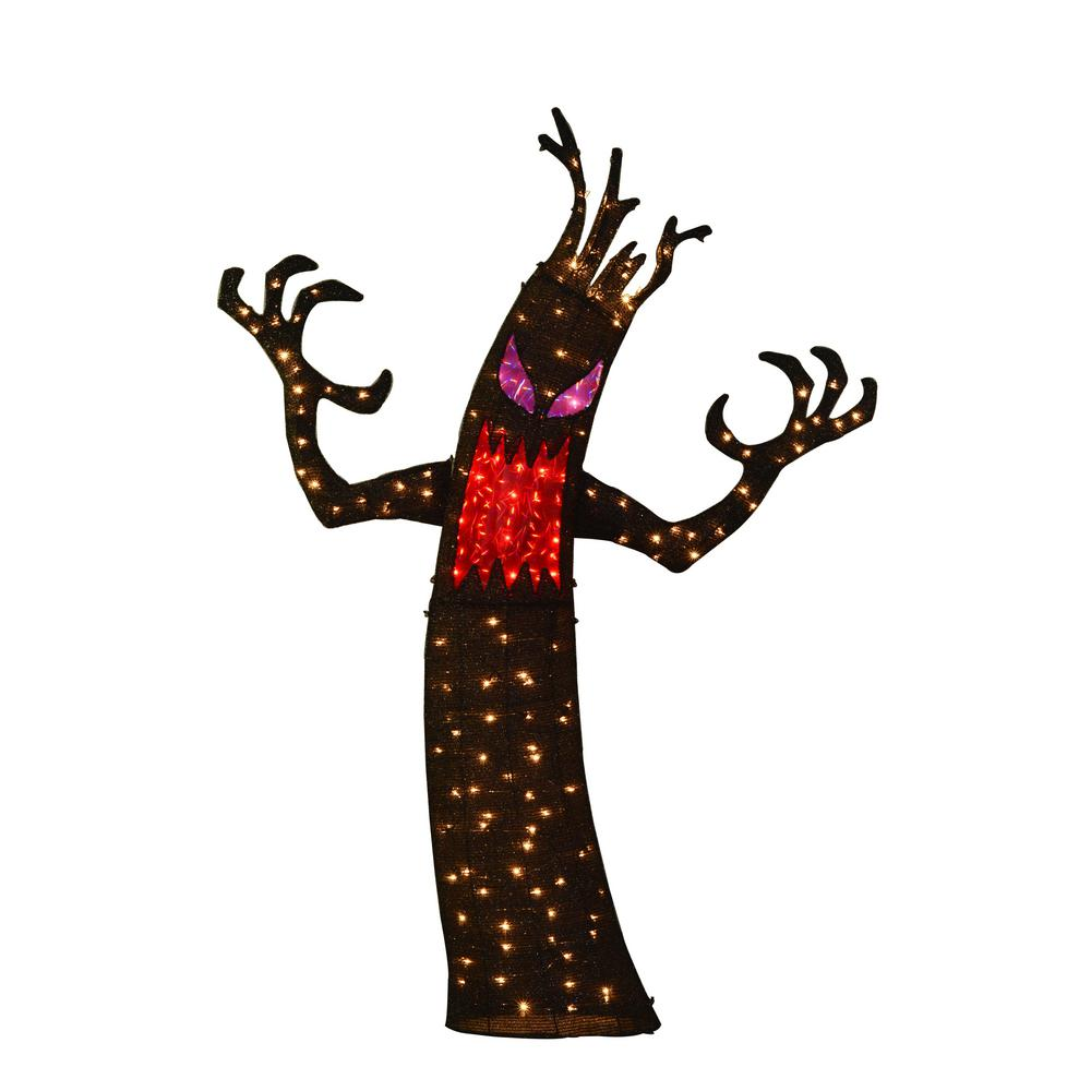Home Accents Holiday 6 ft. Pre-Lit Tinsel Ghost Tree-TY170-1624 ...