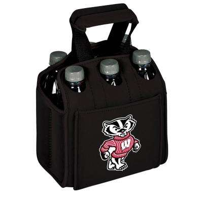 University of Wisconsin - Madison Badgers 6-Bottles Black Beverage Carrier