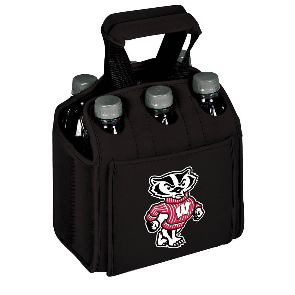 University of Wisconsin - Madison Badgers 6-Bottles Black Beverage Carrier