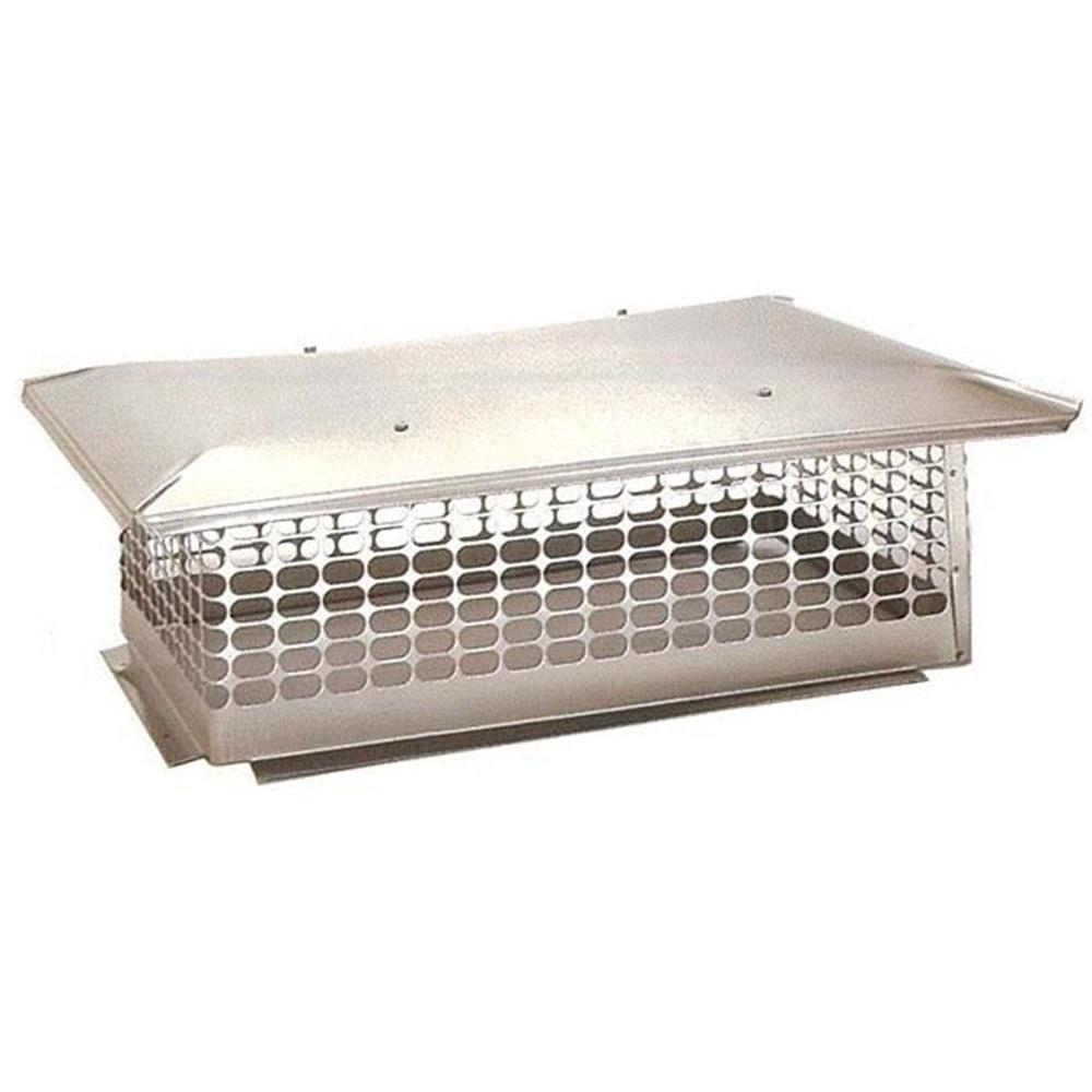The Forever Cap 19 in. x 29 in. Fixed Stainless Steel Chimney Cap