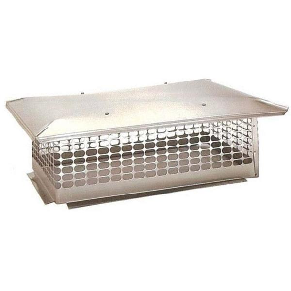 19 in. x 41 in. Fixed Stainless Steel Chimney Cap