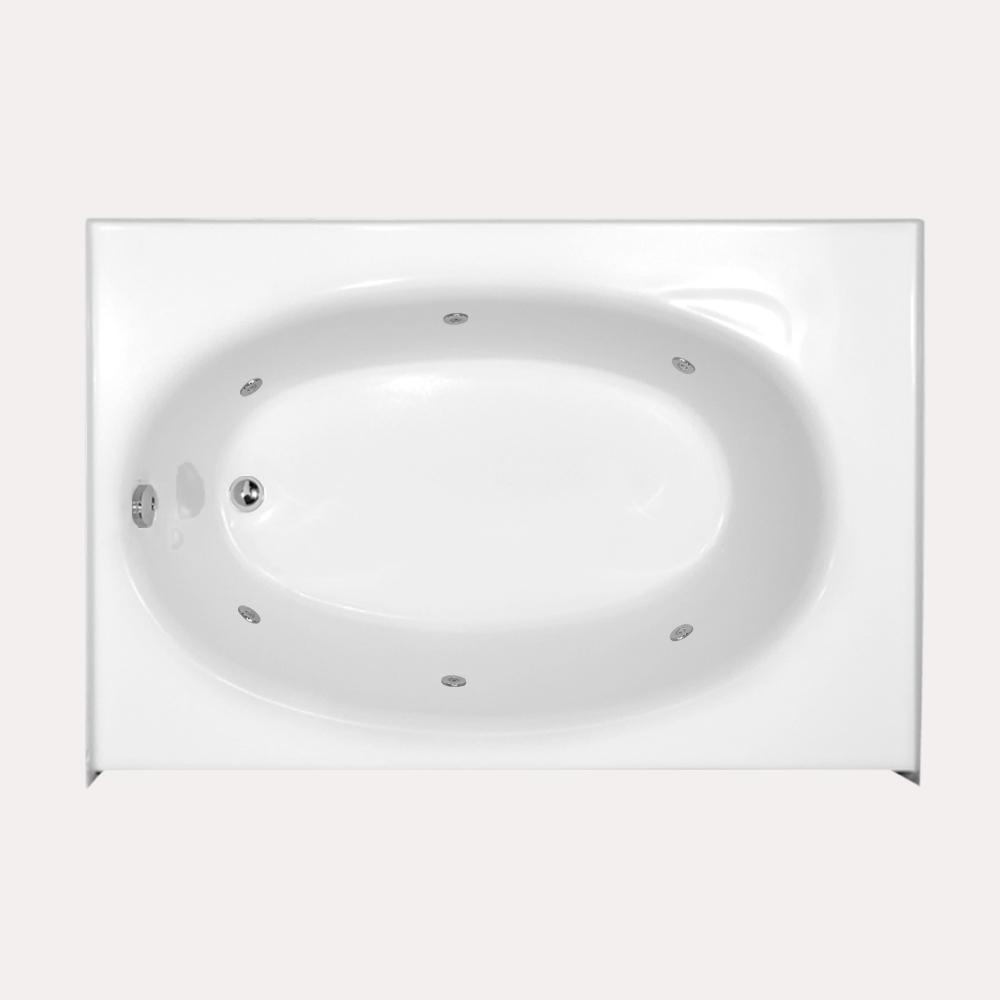 Kona 5 ft. Left Drain Whirlpool Tub in White