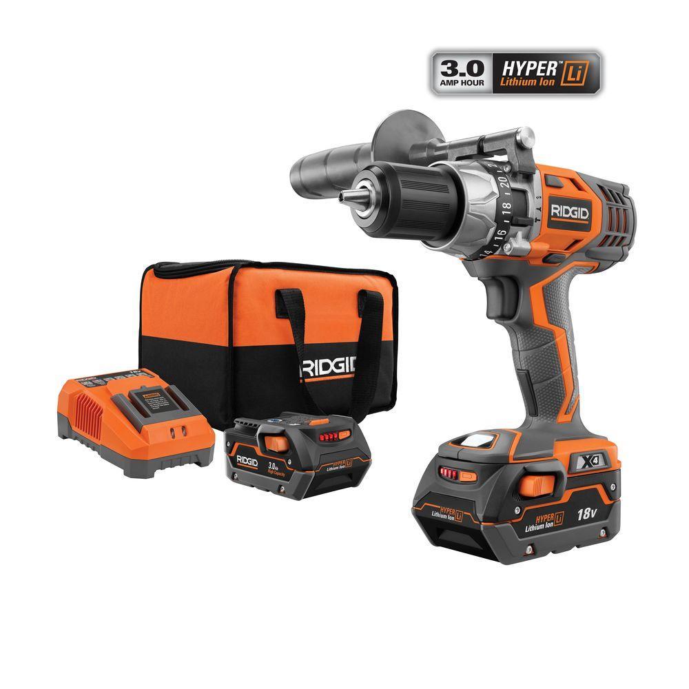 RIDGID X4 18-Volt 1/2 in. Cordless Hammer Drill/Driver Kit