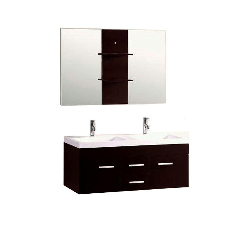 white bathroom vanity mirror kokols duma 48 in bath vanity in espresso with 21478