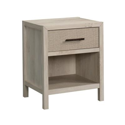 Pacific View 1-Drawer Chalked Chestnut Nightstand 25.827 in. H x 21.496 in. W x 17.48 in. D