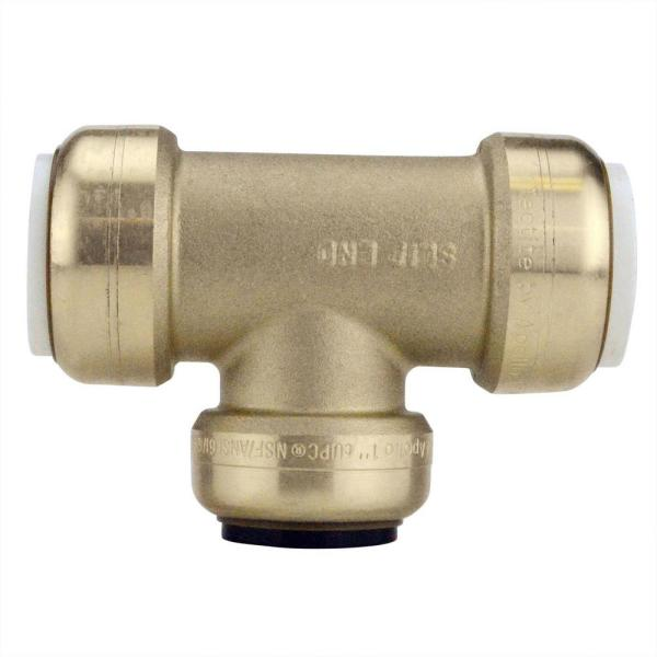 1 in. IPS x 1 in. IPS x 1 in. CTS Brass Push-To-Connect Slip Tee