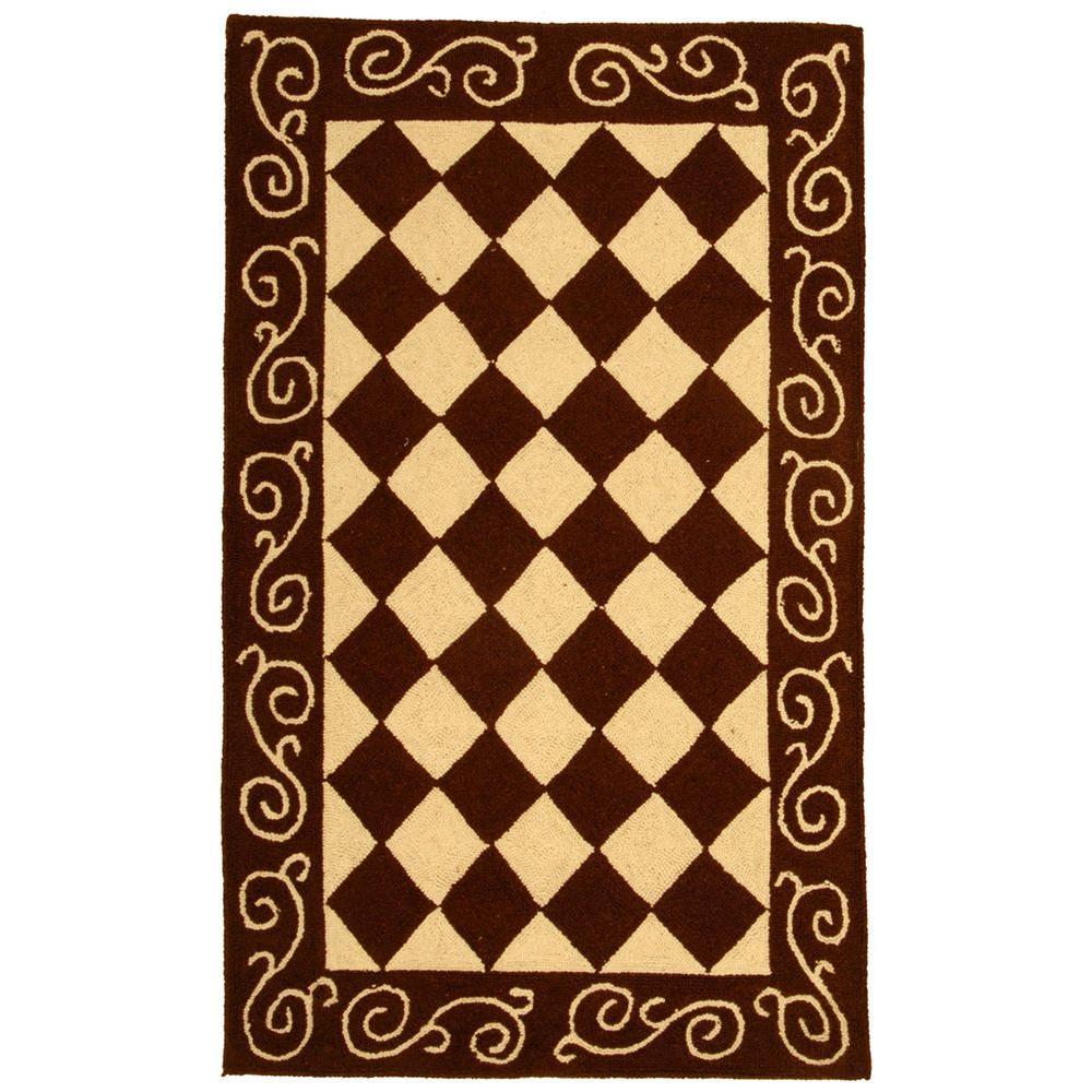 Chelsea Brown/Ivory 2 ft. 6 in. x 4 ft. Area Rug