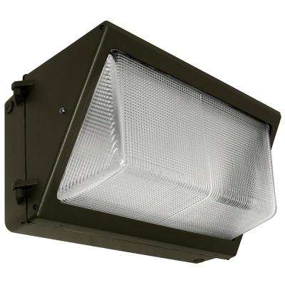 58-Watt Bronze Integrated LED Large Wall Pack Light
