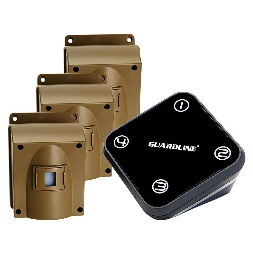 Wireless Driveway Alarm with 3-Sensor Kit