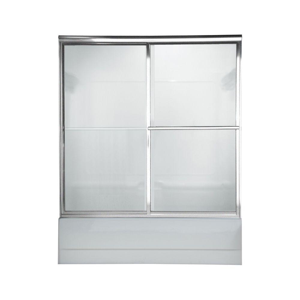 Prestige 60 in. x 58.5 in. Framed Sliding Shower Door in