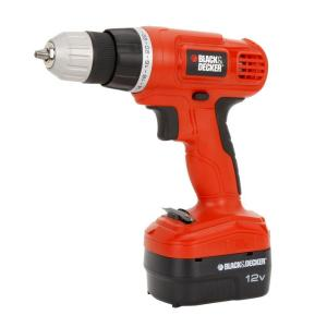 12-Volt NiCd Cordless 3/8 in. Drill with Soft Grips with Battery 1.5Ah and Charger
