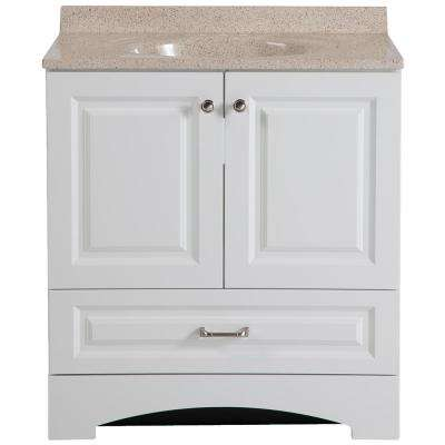 Lancaster 30 in. W Vanity in White with Colorpoint Vanity Top in Maui