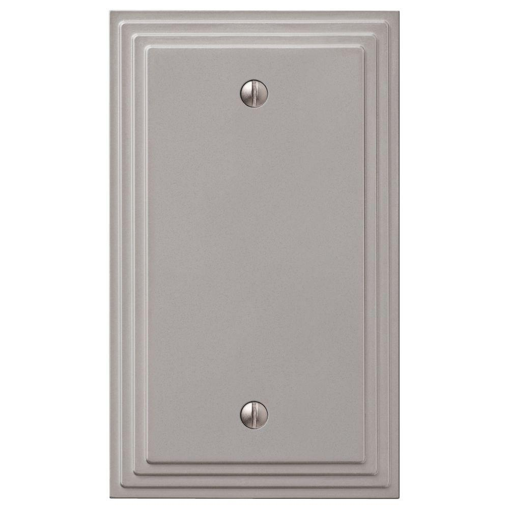 Blank Switch Plate Endearing Hampton Bay Steps 1 Blank Wall Plate  Aged Bronze84Bvb  The 2018
