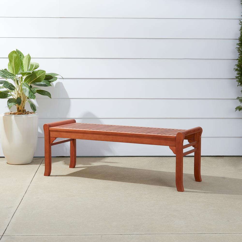 Malibu 4 ft. Backless Patio Bench