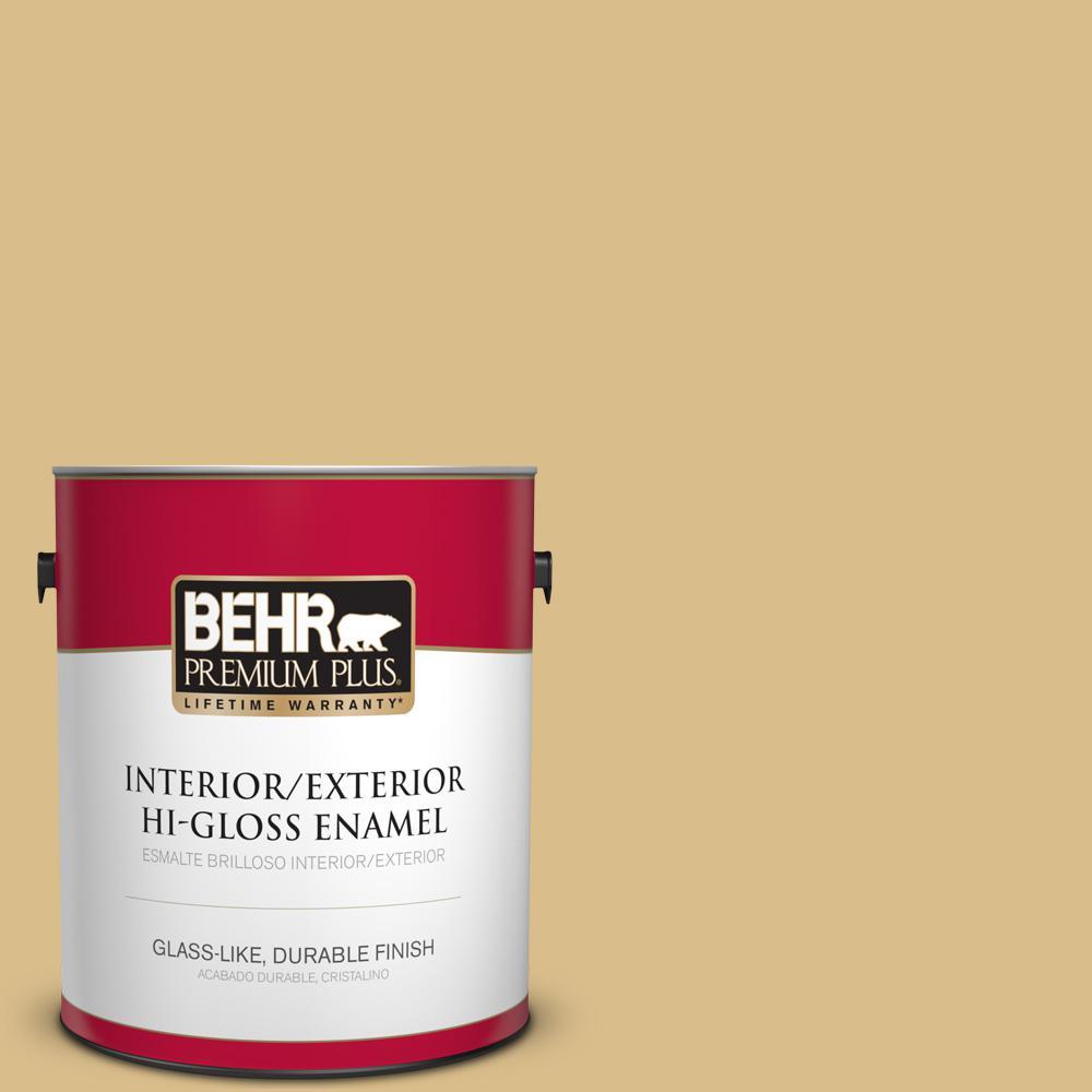 1 gal. #MQ2-18 Honey Tea Hi-Gloss Enamel Interior/Exterior Paint